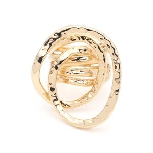 Alexis Bittar Hammered Coil Gold Ring